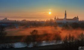 Svítání nad Klášterním Hradiskem