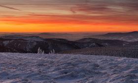 Podvečer na Pradědu (panorama)
