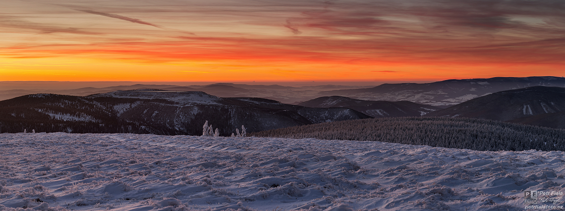 Podvečer na Pradědu (panorama) | Petr Fiala