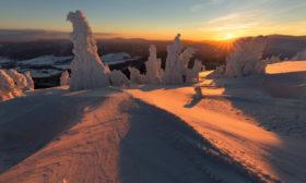 Zimní ráno na horách