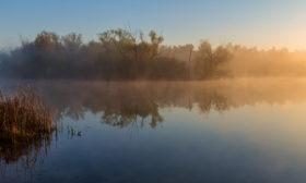 Poděbrady v ranním oparu